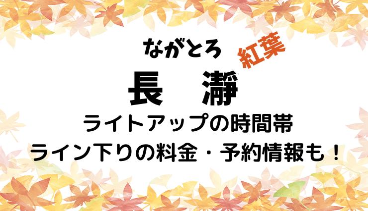 長瀞の紅葉のライトアップの時間帯やライン下りの料金・予約情報も!