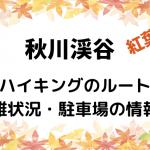 秋川渓谷の紅葉シーズン時期はいつ?ハイキングのルートや混雑状況・駐車場の情報も