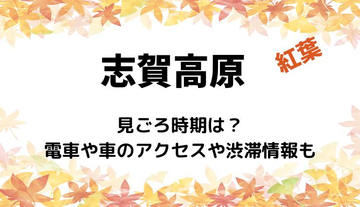 志賀高原の紅葉2020の見ごろ時期は?電車や車のアクセスや渋滞情報も